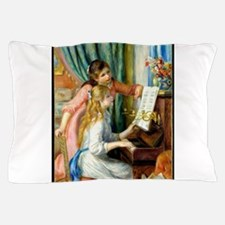 Two Girls at the Piano - Pierre August Pillow Case