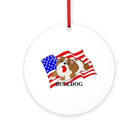 Bulldog USA Ornament (Round)