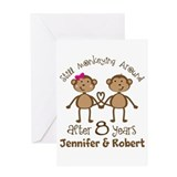 8th wedding anniversary Greeting Cards
