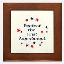 Protect the First Amendment Framed Tile