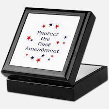 Protect the First Amendment Keepsake Box