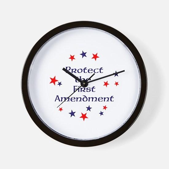 Protect the First Amendment Wall Clock
