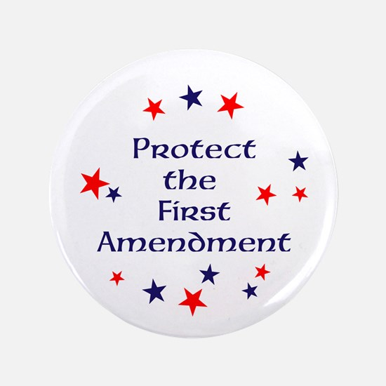 Protect the First Amendment Button