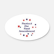 Protect the First Amendment Oval Car Magnet