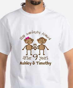 Funny 9th Anniversary Personalized T-Shirt