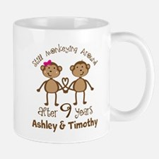 Funny 9th Anniversary Personalized Mugs