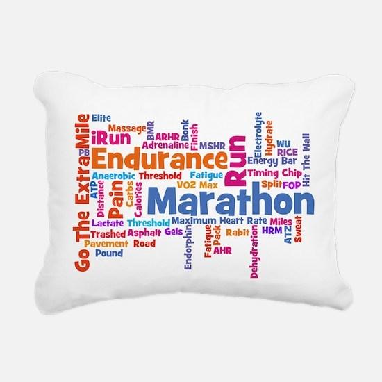 Marathon Womens.png Rectangular Canvas Pillow