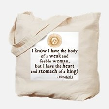 Elizabeth Tilbury Quote Tote Bag