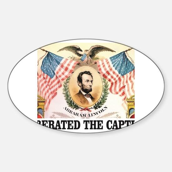 Funny Abe lincoln design Sticker (Oval)