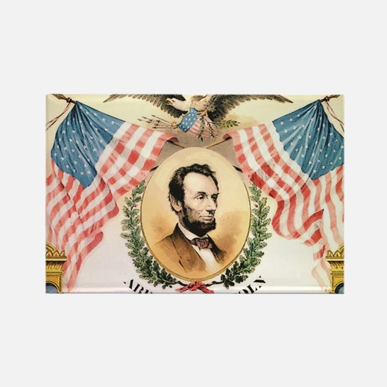 Cute Abe lincoln design Rectangle Magnet
