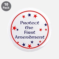 "America,Protect the First Amendment, 3.5"" Button ("