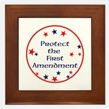 America,Protect the First Amendment, Framed Tile