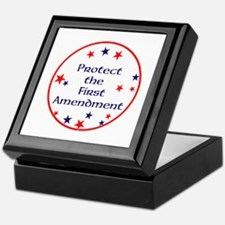 America,Protect the First Amendment, Keepsake Box