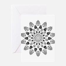 Hop Mandala Greeting Cards