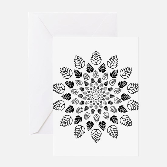 Hop Mandala Greeting Cards