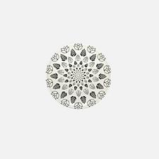 Hop Mandala Mini Button