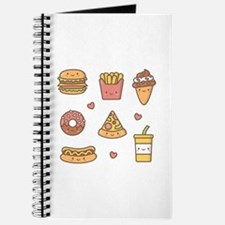 Cute Happy Junk Food Doodles Journal