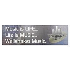 Wallshaker Music Bumper Bumper Sticker