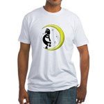 Kokopelli Moon Song Fitted T-Shirt