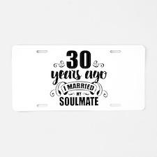 30th Anniversary Aluminum License Plate