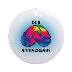OUR ANNIVERSARY Keepsake (Round)