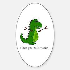 Cute Valentines day fiance Sticker (Oval)