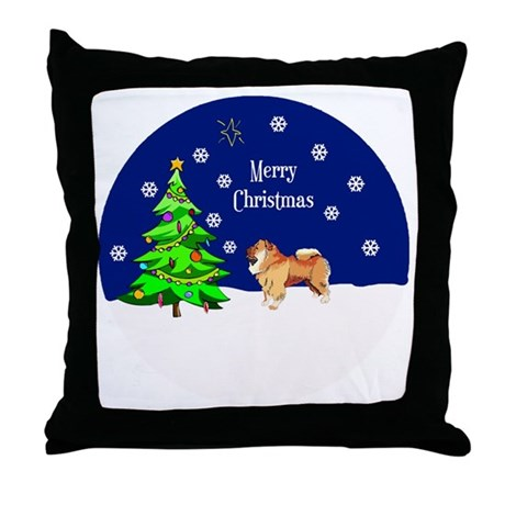 Chow Chow Merry Christmas Throw Pillow