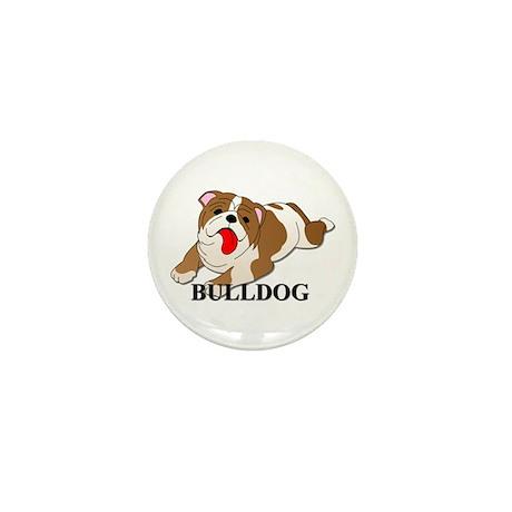Cartoon Bulldog Mini Button (10 pack)
