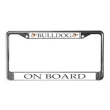 Cartoon Bulldog License Plate Frame