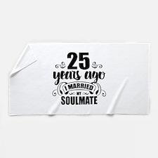 25th Anniversary Beach Towel