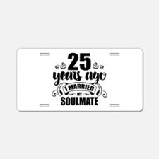 25th Anniversary Aluminum License Plate