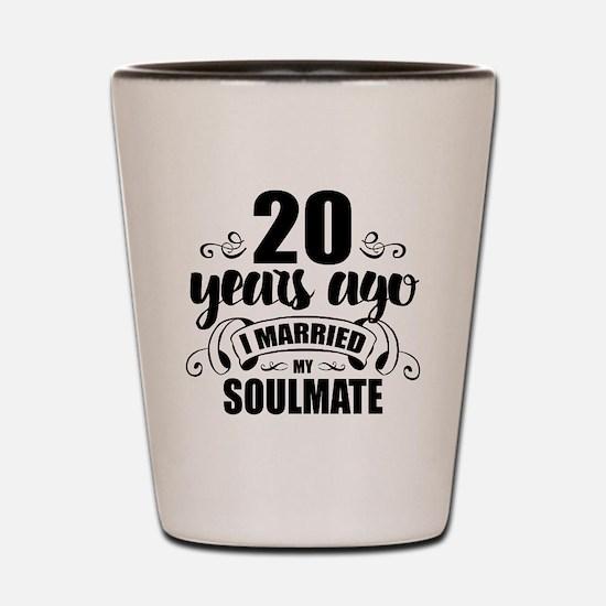 20th Anniversary Shot Glass