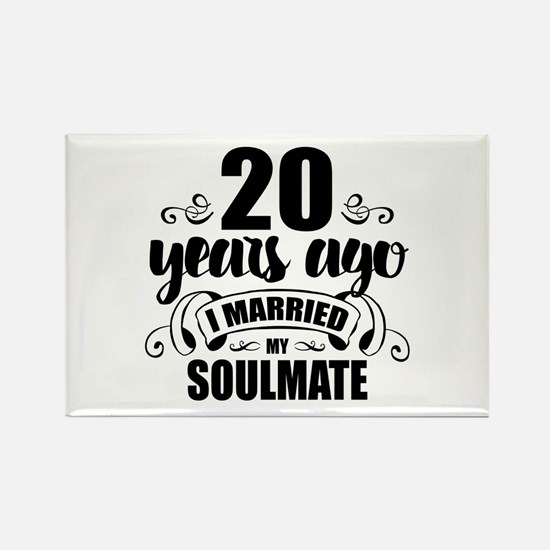 20th Anniversary Rectangle Magnet