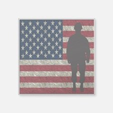 Usflag Soldier Sticker