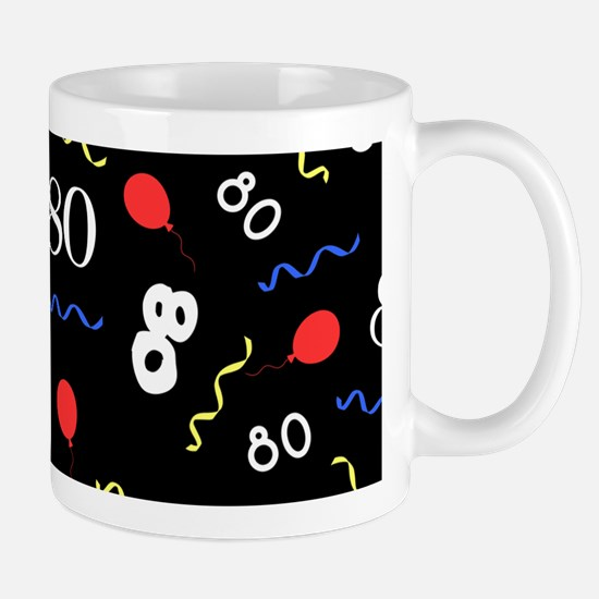 80th Birthday Party Mugs