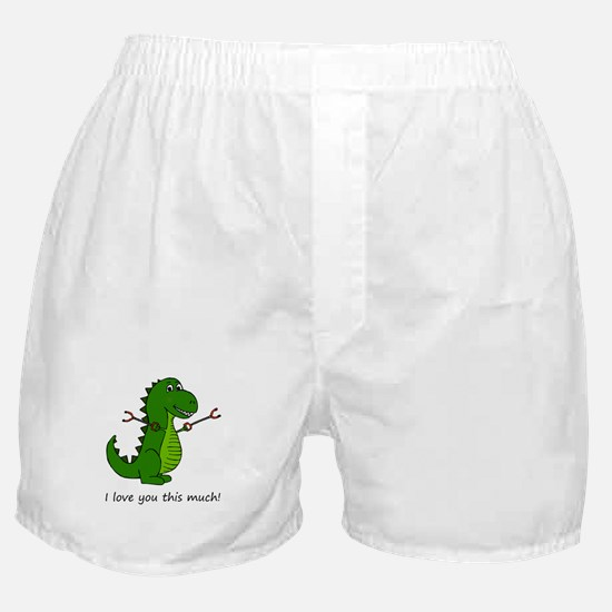 I love you this much! T-Rex Dinosaur Boxer Shorts