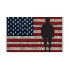 Usflag Soldier Ys Wall Decal