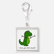 I love you this much! T-Rex Dinosaur with G Charms