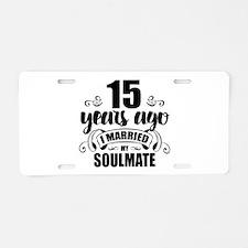 15th Anniversary Aluminum License Plate