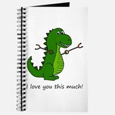 I love you this much! T-Rex Dinosaur with Journal