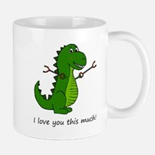 I love you this much! T-Rex Dinosaur with Gra Mugs