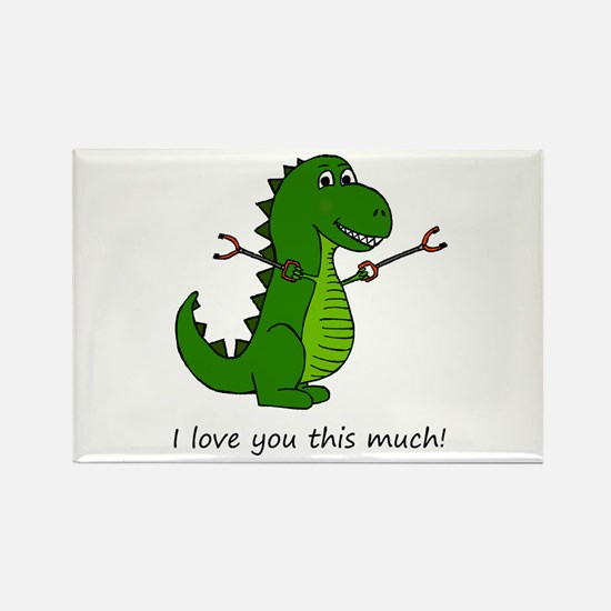 I love you this much! T-Rex Dinosaur with Magnets