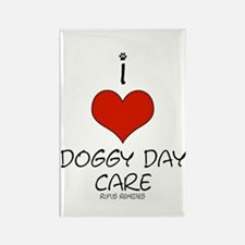 I Love Doggy Day Care Rectangle Magnet