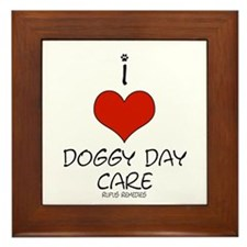 I Love Doggy Day Care Framed Tile