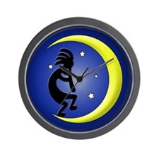 Kokopelli Moon Song Wall Clock