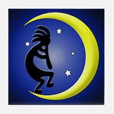 Kokopelli Moon Song Tile Coaster
