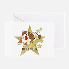 Bulldog Stars Greeting Card