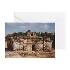 San Gervasio Mayan Ruins Greeting Card