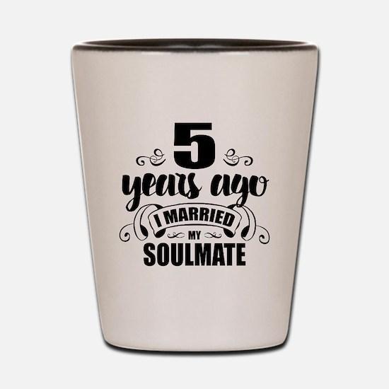 5th Anniversary Shot Glass