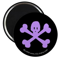 Purple Skull'n'Crossbones 2.25